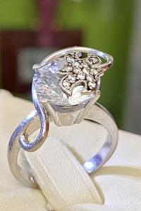 Lenyűgöző Art-deco stílusú ezüst gyűrű