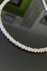 Pompás ezüst nyaklánc-nyakékék