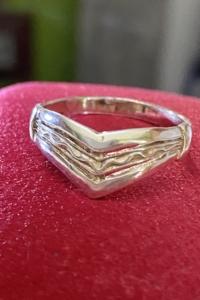 Kecses ezüst gyűrű